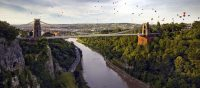 Hot air balloons over Clifton Suspension Bridge