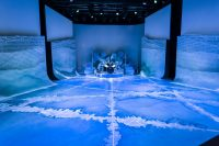Final floor for The production of Snow Queen painted by our scenic art students