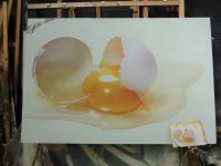 Copy of an egg painting by a Scenic Art student