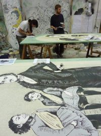 Scenic Art students creating work for the Elephant Man