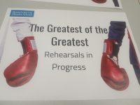 Rehearsal in progress sign