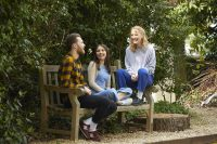 Students relaxing in our School garden