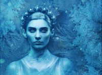 An image of an ice queen with a crown