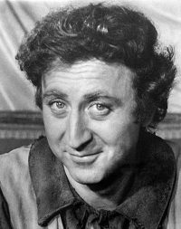Black and white phone of Gene Wilder