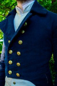 Naval officer jacket detail