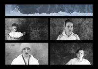 Screenshot of four actors performing in 62 Sperm Whales by Skot Wilson