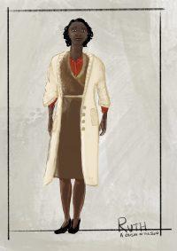 Sketch of costume design for A Raisin in the Sun