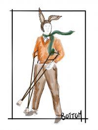 Costume design for Bottom from A Midsummer Night's Dream