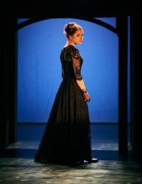 Actress in long evening gown