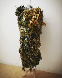Dress made out of living tree matter and vegetation
