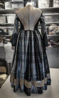 Floor length dress on mannequin