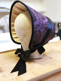 Close up of purple bonnet