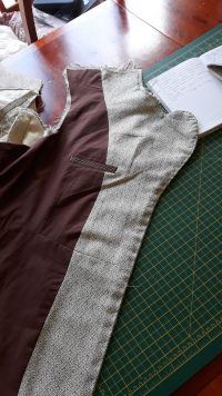 Sewing patterns prepped for design