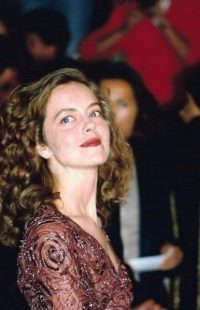 Portrait/snapshot of actress in evening wear at a film festival - Greta Scacchi
