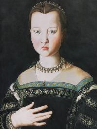 Large portrait of tudor lady