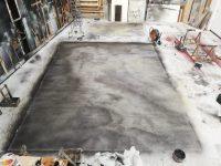 Grey painted floor