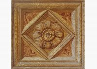 Painting of decorated wooden panel