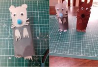 Simple rat puppets made from recycled toilet rolls